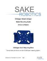 EZGripper Gen2 Robotic Grippers – Mounting to Universal Robots